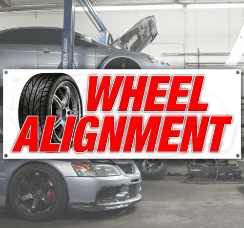 WHEEL ALIGNMENT Advertising Vinyl Banner Flag Sign Many Sizes Available USA