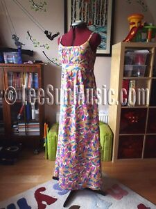 Boden stunning print cotton maxi dress 8 NEW long summer