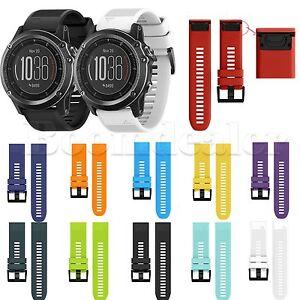 Silikon Ersatz Armband Uhrenarmband Band Fur Garmin Fenix 3 3hr Gps