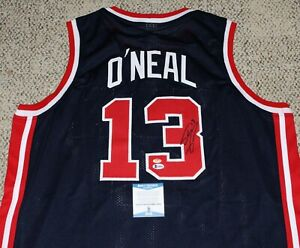 SHAQUILLE O'NEAL SIGNED TEAM USA BASKETBALL JERSEY BECKETT COA SHAQ AUTHENTIC