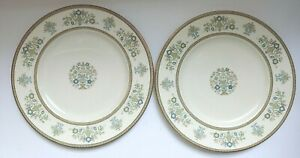 Minton-Henley-10-3-4-034-Dinner-Plate-Vintage-Fine-Bone-China-S749-Set-of-2