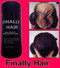 CONCEAL HAIR LOSS THINNING HAIR BALDING AREAS KERATIN HAIR FIBERS FINALLY HAIR!