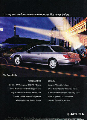 Moon Classic Vintage Advertisement Ad D185 1999 Acura 3.0CL