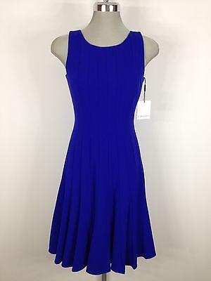 Calvin Klein Elegant New WT Royal Blue Dress Flare bottom wear for any occassion
