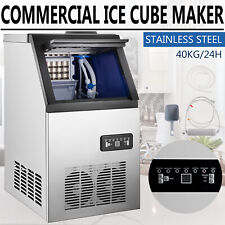 Commercial Ice Maker Stainless Steel Built In Ice Cube Machine Undercounter 90lb