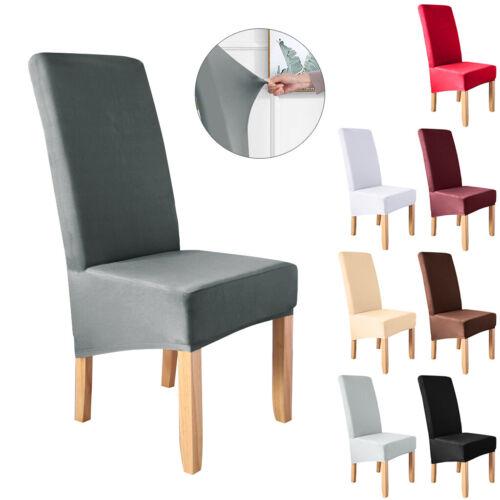 2-10x Strechhusse Stuhlüberzug Stuhlbezug Hussen Stuhlhussen Farbwahl Universal