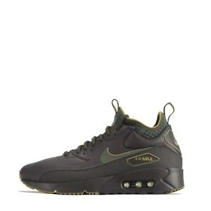 online store 4059a b8f39 Details about Nike Air Max 90 Ultra Mid Winter SE Mens Trainers in Velvet  Brown