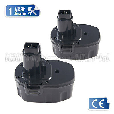 2 batteries for Dewalt DE9091 DE9092 DE9094 DE9502 14.4V 3.0AH DC730KA DC833KA