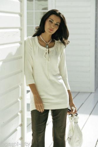 Hochwertiger Damen-Pullover Modehaus natur Gr.40 Neu//G5