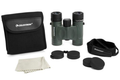 Celestron prismáticos nature DX 8x25 con bolsa y correas compacto a distancia de vidrio