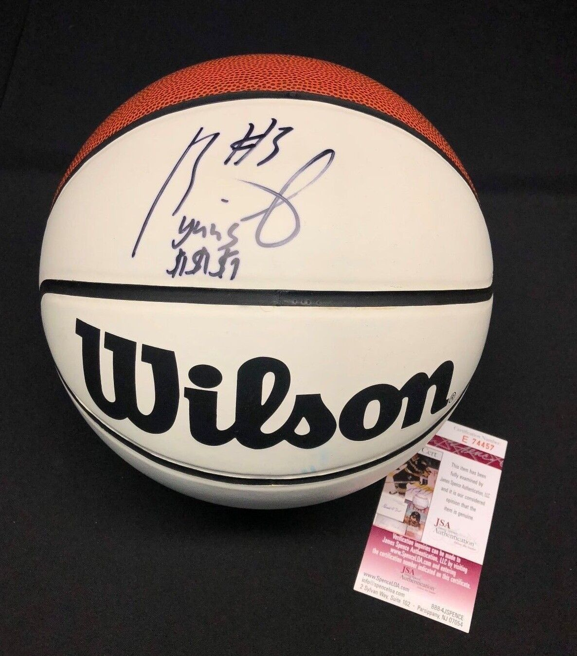 Brandon Jennings Signed Wilson Basketball *Milwaukee Bucks JSA E74457