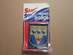 Blue Border Bognor Regis Sampson Souvenirs Woven Cloth Patch Badge