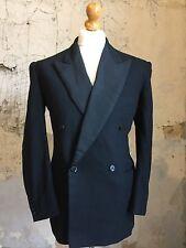 Mens Vintage Bespoke Double Breasted Dinner Jacket Suit Size 40 (DJ211)