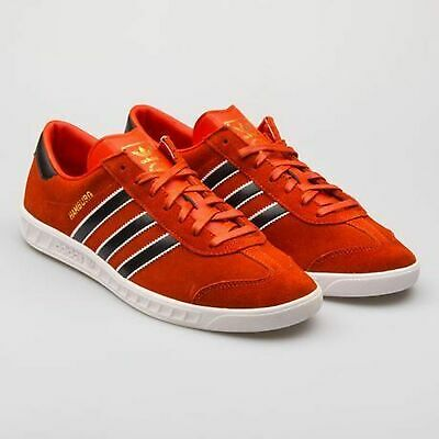 ADIDAS HAMBURG MENS RED LEATHER SUEDE SHOES JEANS CRAFT CHILI GAZELLE S79989 NEW   eBay