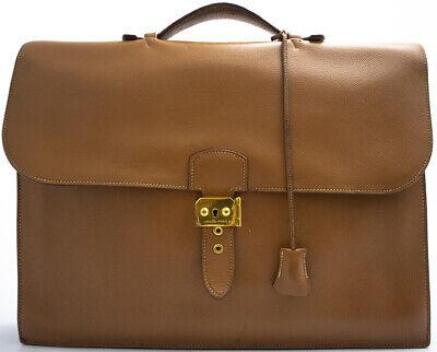 HERMES SAC A DEPECHE 41 Briefcase Serviette Bag Document Case Business Sac | eBay