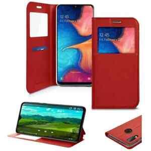 Coque Etui pour Samsung Galaxy A20e ,Housse Porte Carte Protection A20e -Rouge