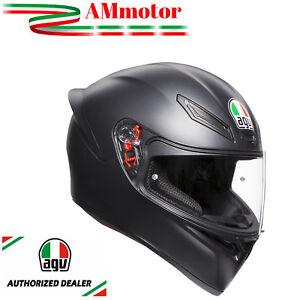 Casque-Agv-K1-Pour-Moto-Integral-Noir-Black-Matt-Taille-S-55-56-Solid-Mate