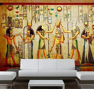 3D Ancient Egyptian History Full Wall Mural Photo Wallpaper Print