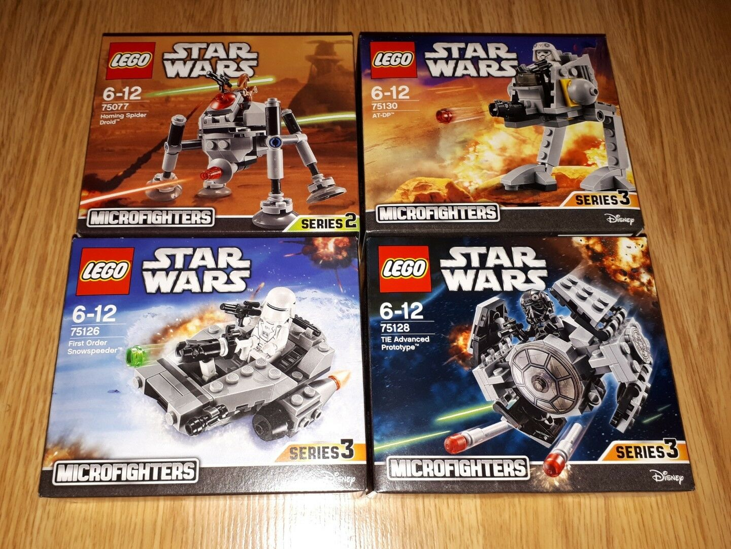 FOUR LEGO STAR WARS MICRO FIGHTERS Sets