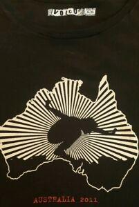 Rare-Eddie-Vedder-Volcom-Australia-2011-Tour-T-Shirt-XL-Pearl-Jam