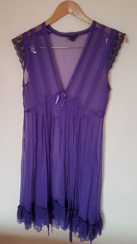 Ladies Purple Nightdress Size 12