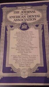 The Journal Of The American Dental Asociación VOL.20 1933 Enero Retrato ABE