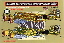 "KORA Models Decals 1/72 SAVOIA MARCHETTI SM.79 SPARVIERO ""SORCI VERDI I"""
