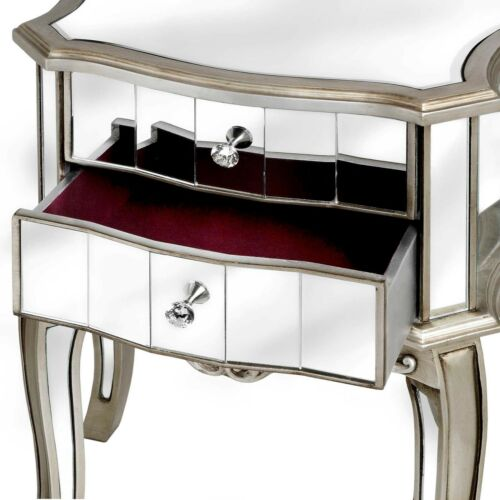 French style Mirrored Two Drawer Bedside Table SALE TODAY ONLY