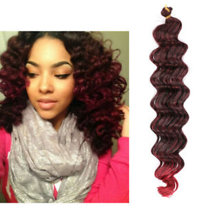 Deep Wave Crochet Hair Extension 20