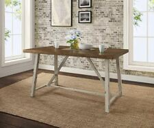 Farm Kitchen Table Country Farmhouse Dining French Distressed Rustic White Retro