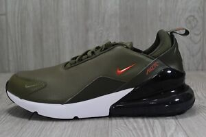 Details about 44 Nike Air Max 270 PRM Leather BQ6171 200 Olive Green Men's Running Shoes 11.5