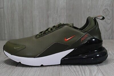 44 Nike Air Max 270 PRM Leather BQ6171 200 Olive Green Men's Running Shoes 11.5 | eBay