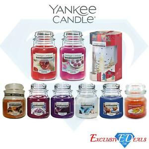 Yankee-Luxury-Glass-Jar-Candles-Home-Fragrance-Gift-amp-Candle-Burner-LARGE-JARS