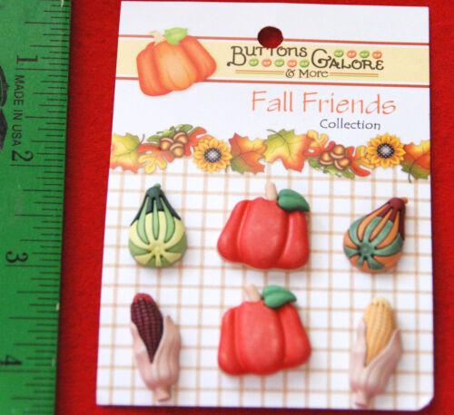 Buttons Galore Vicki Schreiner// Pumpkins Autumn  Bounty Corn Squash