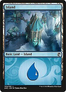 132 Simic Guild Kit Island Simic NM Basic Land MAGIC GATHERING CARD ABUGames