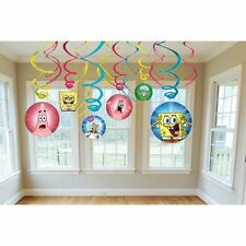 Sponge-Bob SquarePants Dangling Swirl Decorations Birthday Party Favor Supplies