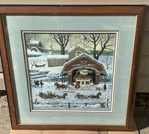 Charles-Wysocki-039-TWAS-The-Night-Before-Christmas-Framed-Signed-amp-Numbered-Litho