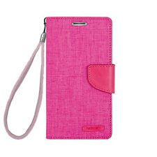 Leather Card Holder Wallet Flip Stand Case Cover With Strap For iPhone Galaxy LG