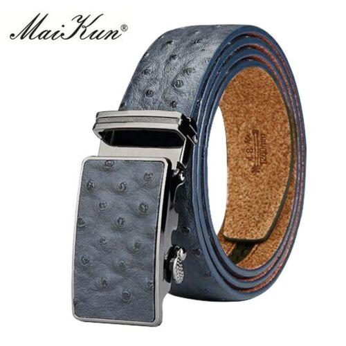 Luxury Genuine Leather Belts For Men Belt Ostrich Cowskin Automatic Buckle Belt
