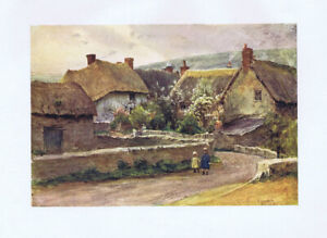 A-Wessex-Village-Antique-Print-1906