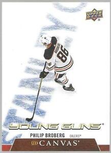 2020-21 Upper Deck Young Guns Philip Broberg UD Canvas Rookie # C95 NM/MT RC