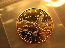 1997 FLYING LOON DOLLAR MINT BEAUTY CANADA COMMEMORATING 10 YRS OF LOON DOLLAR