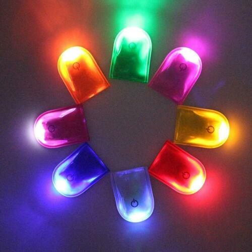 LED Safety Light Reflective Magnet Clip On Strobe Run Walking Bike Cycling Lamp