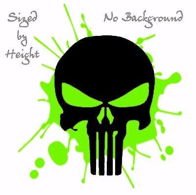 BLACK PunCSblk 444433 Punisher Skull  Decal Sticker Military CHOOSE SIZE