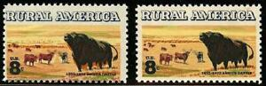 """1504 - 8c Multiple Color Shift Error/EFO Angus & Cattle """"Rural America"""" Mint NH"""