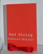 RED STRING KABBALAH LUCKY BRACELET with Prayer Card Against Evil Eye Bestseller