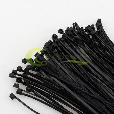 "1000 pcs Nylon Plastic Zip Trim Wrap Cable Loop Ties Wire Self Lock 40 lbs 12/"""