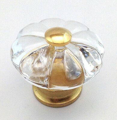 """Amerock 244FAB Burnished Brass 1 1//4/"""" Knob Pull Almond Center with Flowers"""