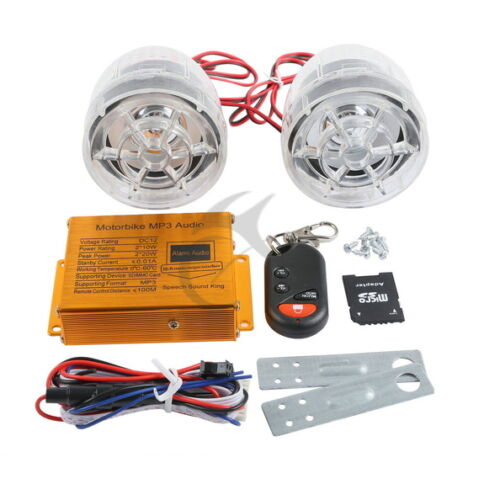Anti-Theft Security Alarm System with MP3 Speaker FM Radio for Motorcycle New