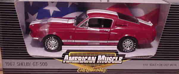 1967 Shelby Mustang GT500 rojo 1 2500 1 18 Ertl American Muscle 33577
